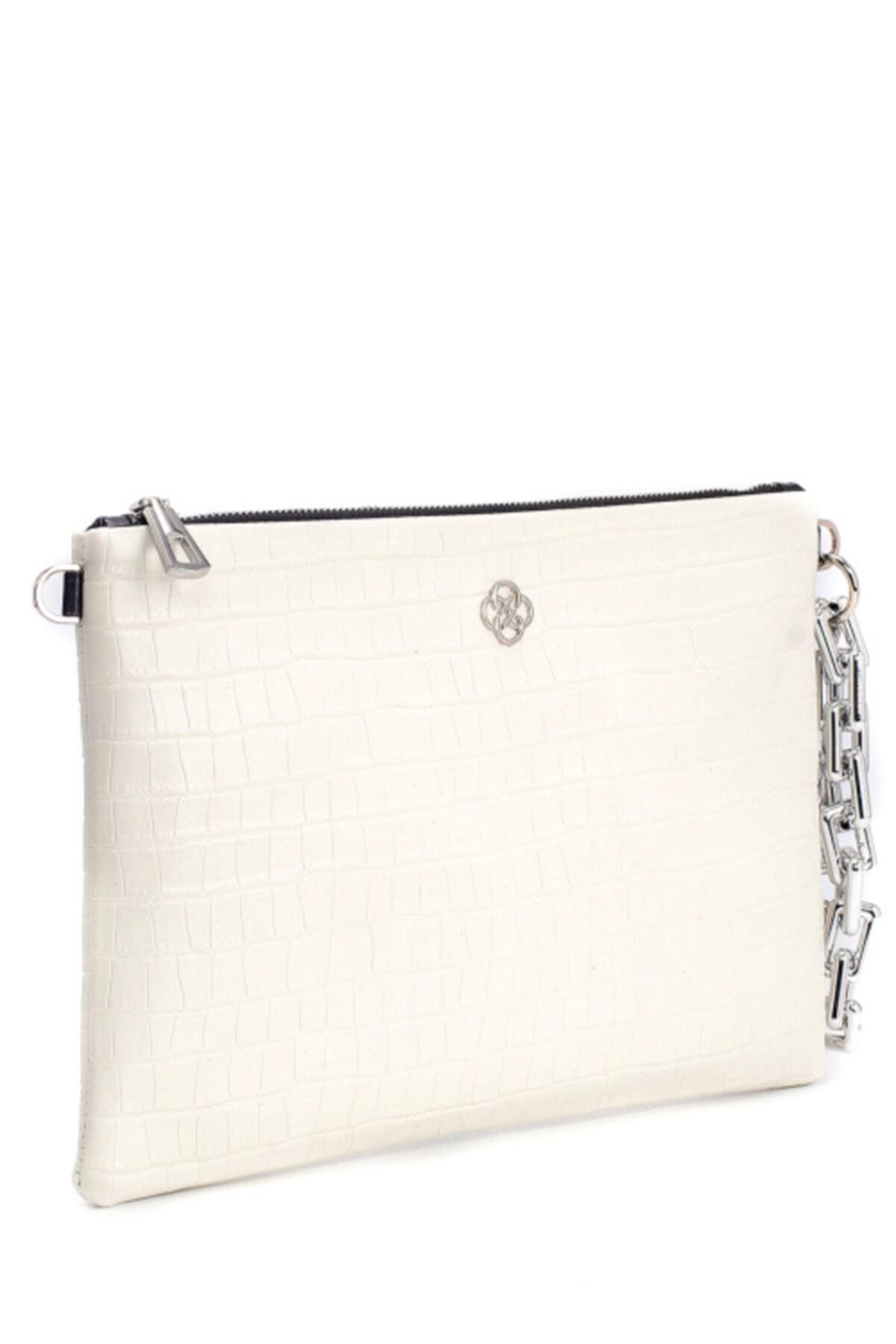 CLUTCHİST Kadın Beyaz Clutch  Çanta 2