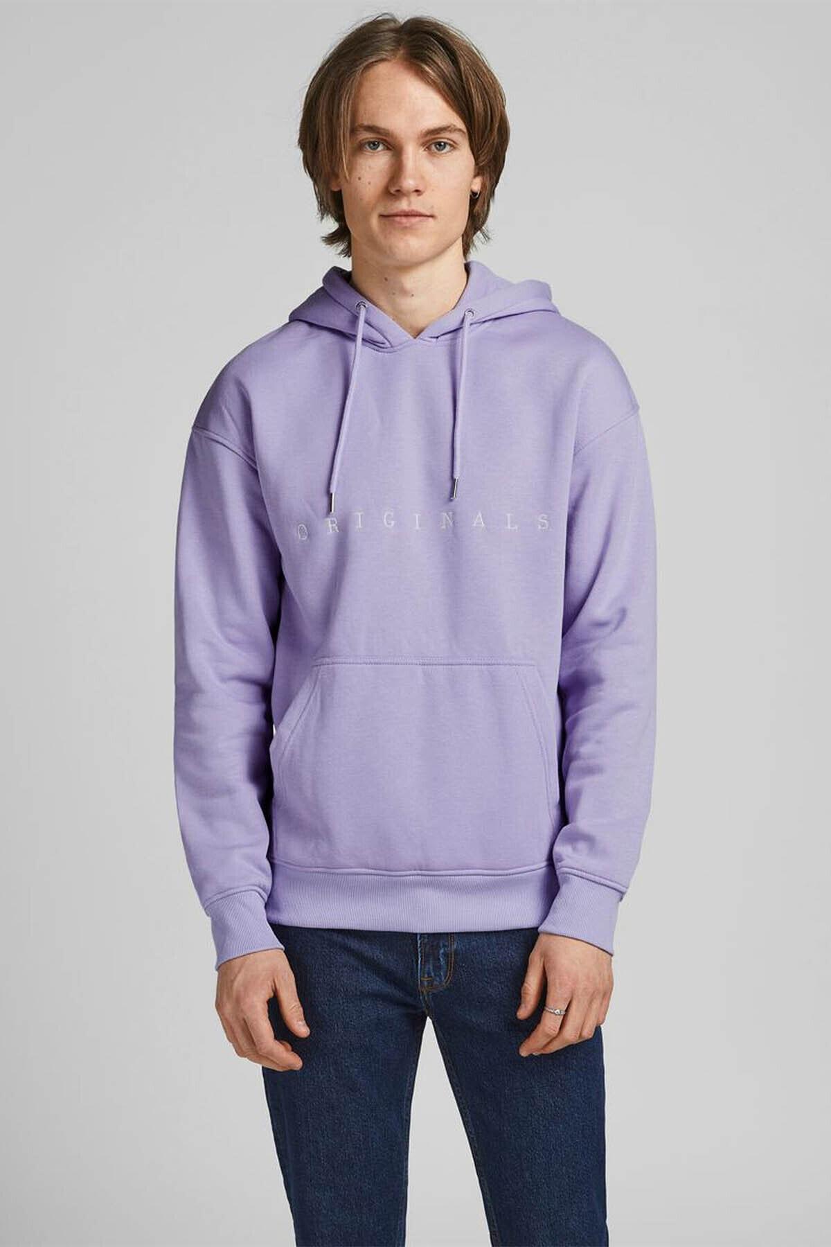 Jack & Jones Erkek Copenhagen Sweatshirt Loopback Relaxed Fıt Hoodıe - 12176864 2