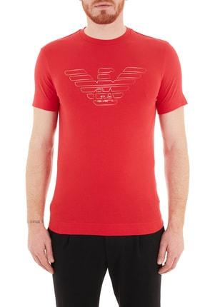 Emporio Armani Erkek Baskılı Pamuklu T Shirt