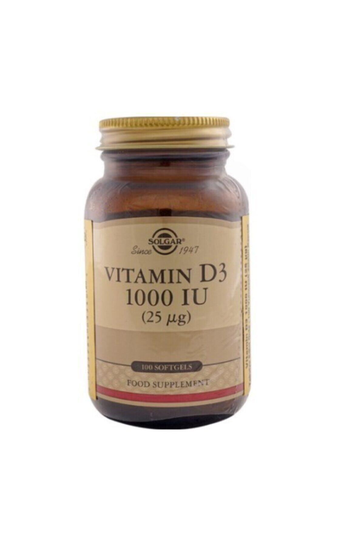 Solgar Vitamin D3 Içeren Takviye Edici Gıda 1000ıu Yumuşak 100 Kapsül 1