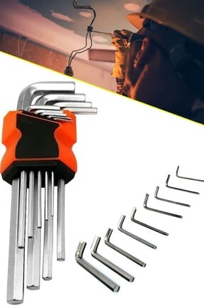 Chermik Shtools 9 Parça Çelik Alyan Takımı Tork Anahtarı Seti 120 Mm 1410