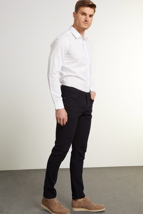 Network Erkek Slim Fit Lacivert Kanvas Pantolon 1078527