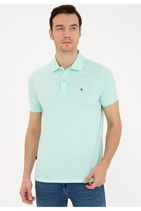 Pierre Cardin Erkek Açık Yeşil Slim Fit Polo Yaka T-shirt
