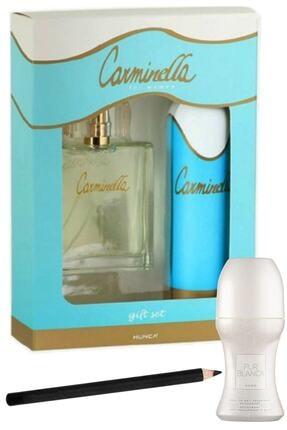 Carminella Classic Edt 100 ml Kadın Parfüm + Deodorant 150 ml + Pur Blanca Rollon + Göz Kalemi Set 8831780004