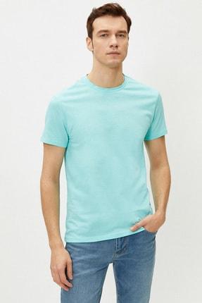 Koton Erkek Turkuaz T-Shirt 1Yam12136Lk