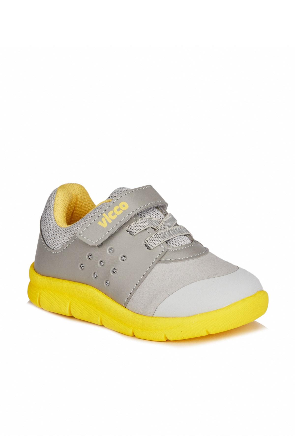 Vicco Mario Iı Unisex Ilk Adım Gri/sarı Spor Ayakkabı 1