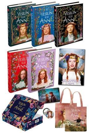 Ephesus Yayınları Yeşilin Kızı Anne Set  5 Kitap Kutulu   Ciltli Özel Çanta Poster  Kartpostal Ve Rozet