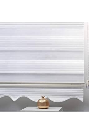 BBB Pliseli Stor Zebra Perde Beyaz MZ480