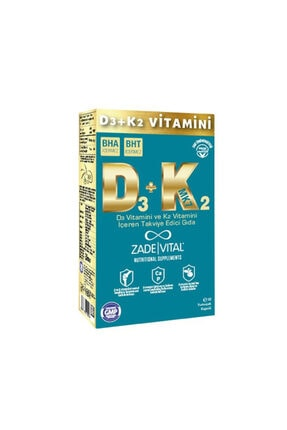 Zade Vital D3+k2 Vitamini 30 Blister Kapsül