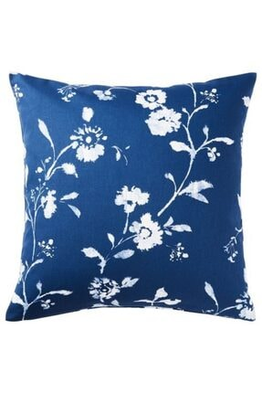 IKEA Minder Kılıfı Meridyendukkan Mavi-beyaz Pamuklu 50*50 Yastık Kılıfı , Kırlent Kılıfı