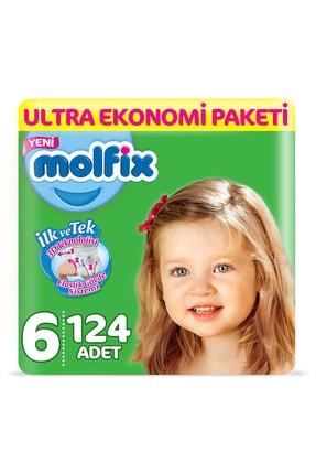 Molfix Bebek Bezi 6 Beden Extra Large Ultra Ekonomi Paketi 124 Adet