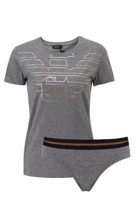 Emporio Armani Kadın Bisiklet Yaka T-shirt