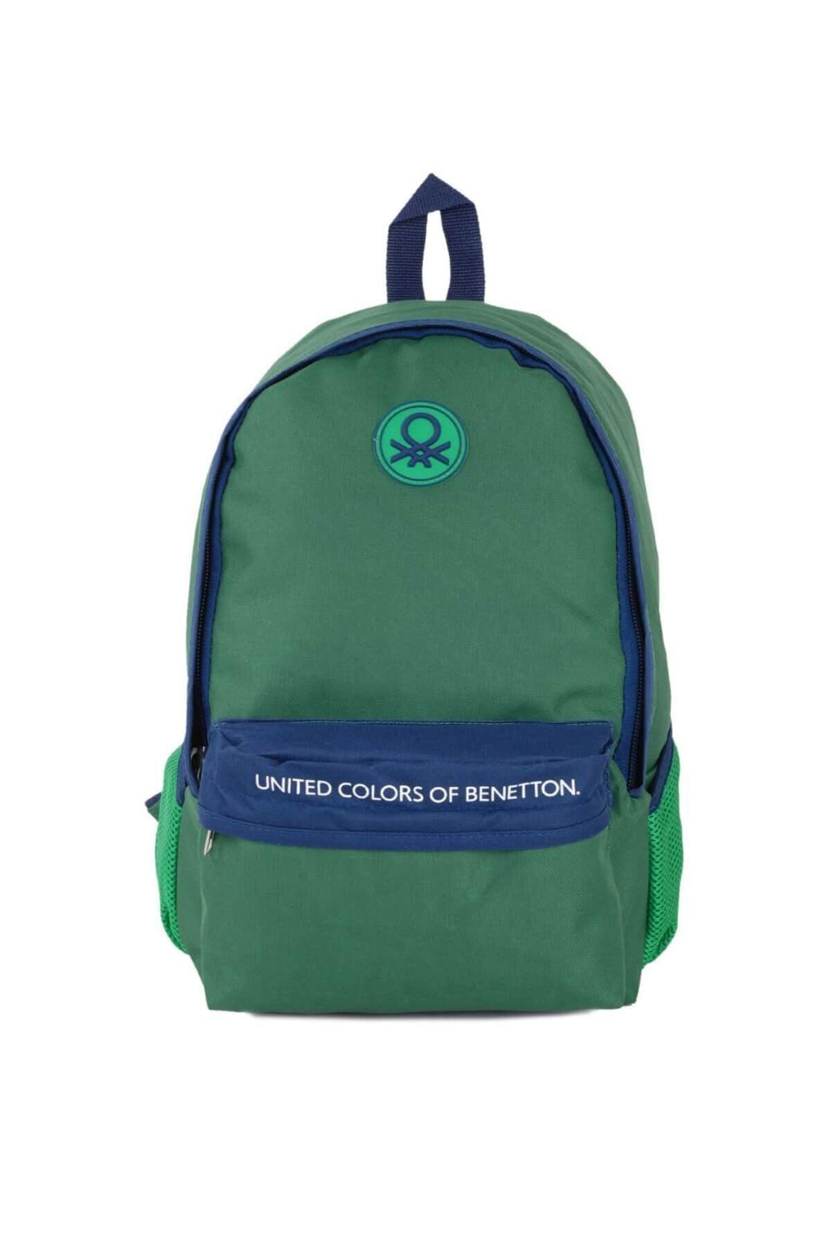 Benetton Unisex Yeşil Sırt Çantası 96068 1