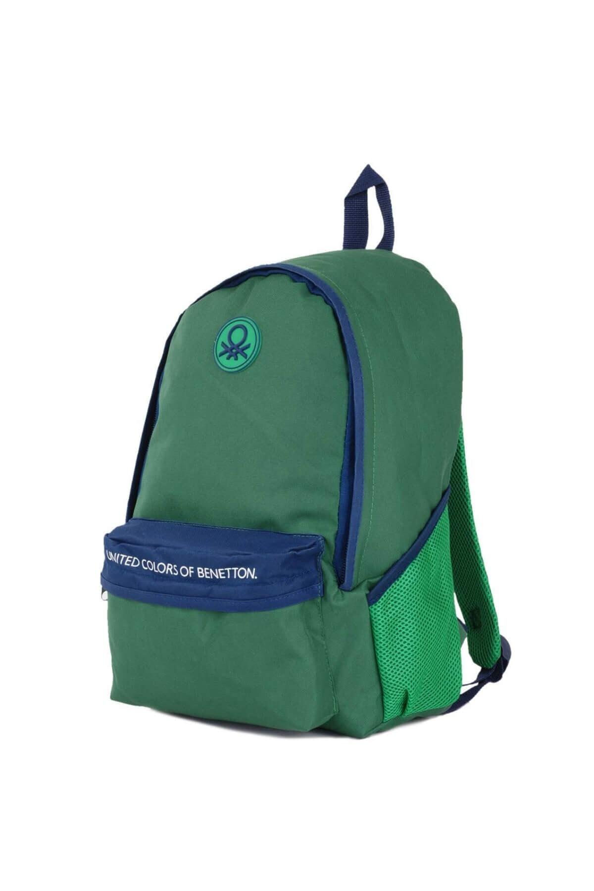 Benetton Unisex Yeşil Sırt Çantası 96068 2