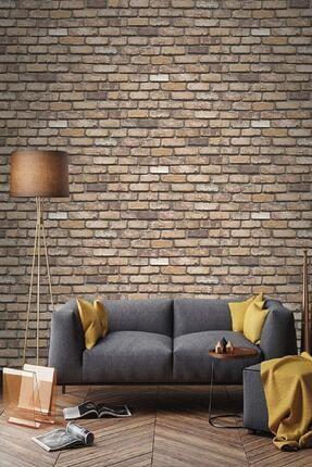 EXCLUSIVE Kahverengi Taş Tuğla Desen 2020 Model Duvar Kağıdı 5,33 M² 9030