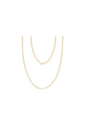 Diamond Line-Gülaylar Kadın Sarı Trend 14 Ayar Altın Zincir