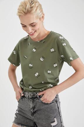 DeFacto Baskılı Pamuklu Relax Fit Kısa Kollu Tişört