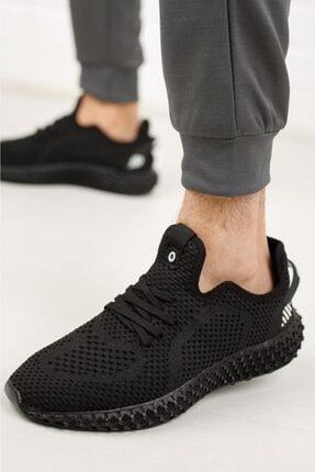 DUNLOP Erkek Siyah Triko Sneaker Ayakkabı 1020