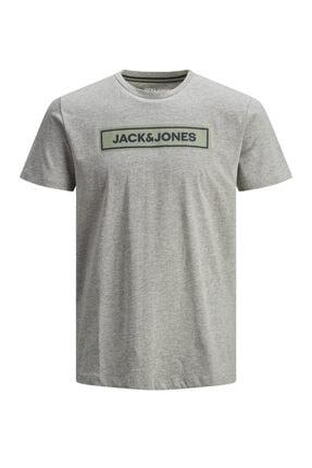 Jack & Jones JORLONDONS TEE SS CREW NE Gri Erkek T-Shirt 101069358