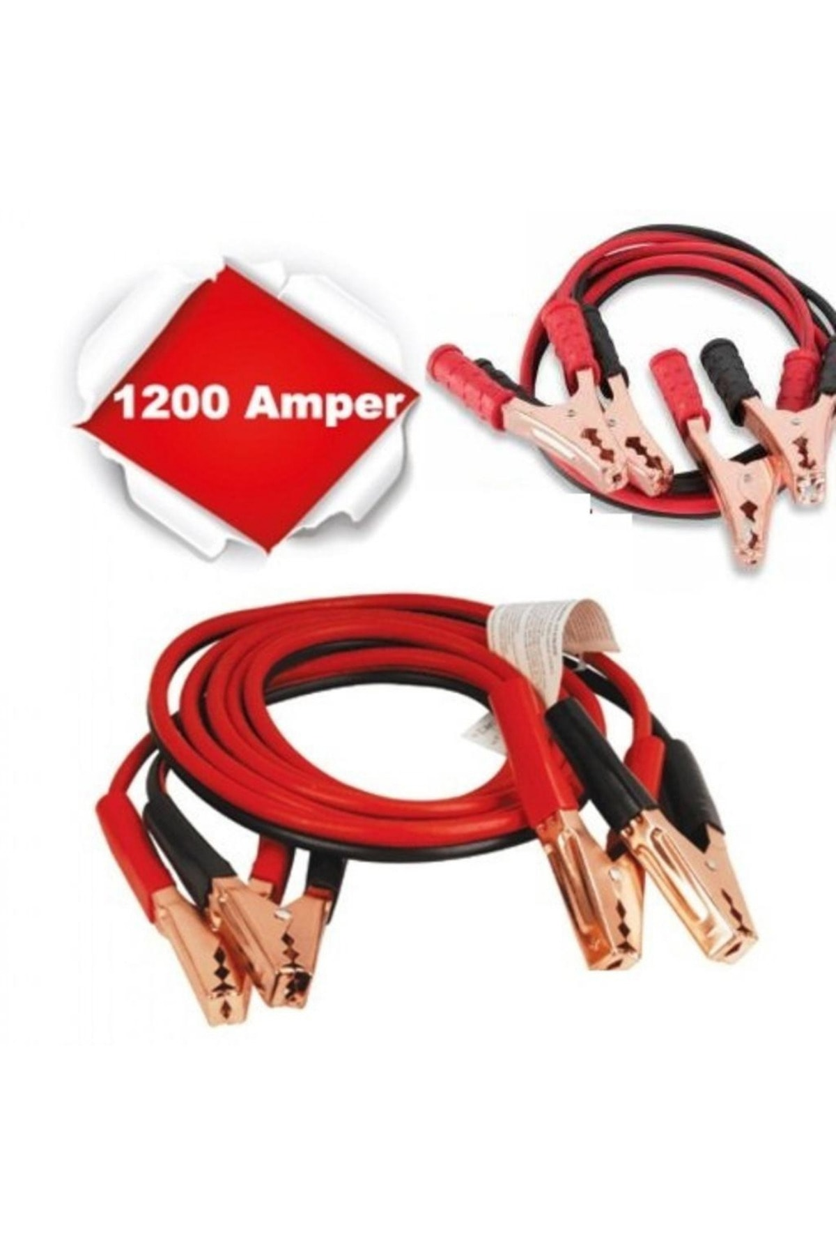 DRK EKSPRES 1200 Amper Akü Takviye Kablosu 2.5 Metre Bakır Akü Takviye Cihazı 2