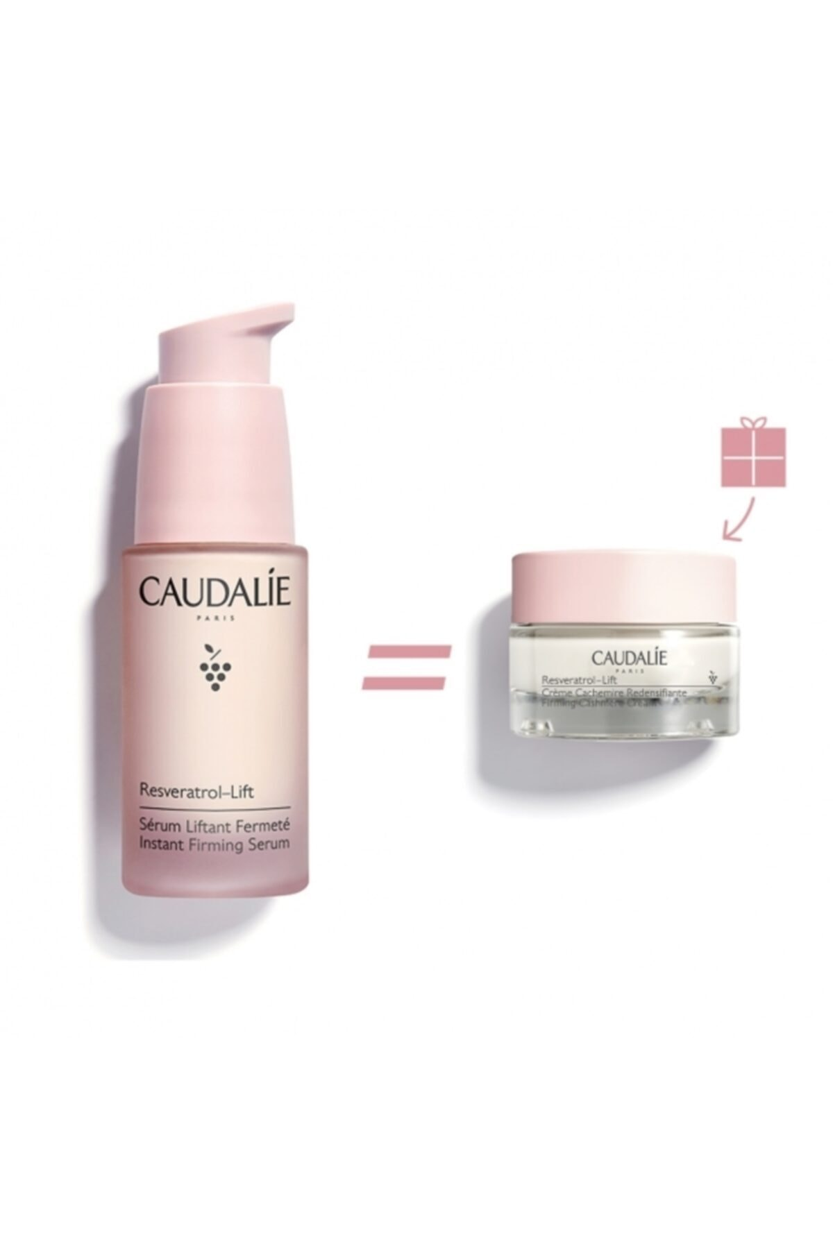 Caudalie Yeni Vegan 30ml Resveratrol Firming Serum 15 ml Firming Cashmere Cream 1