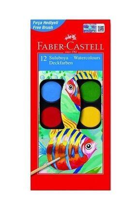 Faber Castell Küçük Tablet Sulu Boya 12 Renk