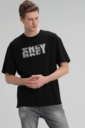 Lufian Bonn Modern Grafik T- Shirt Siyah
