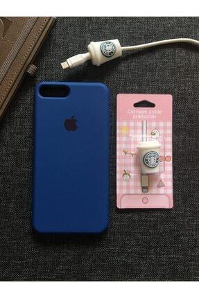SUPPO Iphone 7/8 Plus Logolu Lansman Kılıf+kablo Koruyucu