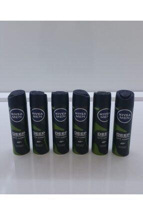 Nivea Nıvea Men Sprey Deep Dımensıon Aktif Carbon 150 Ml 6 Lı Paket