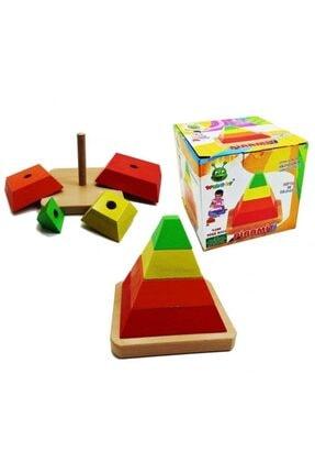KARSAN Woodoy Ahşap Piramit Oyuncak Kt-kr067