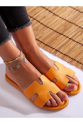 ayakkabıhavuzu Kadın Hardal Terlik