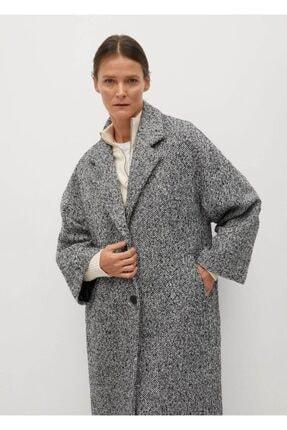 MANGO Woman Kadın Kırık Beyaz Palto