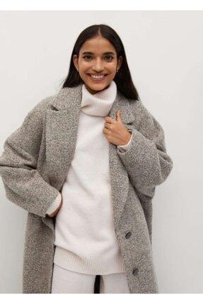 MANGO Woman Geniş Kesim Yün Palto