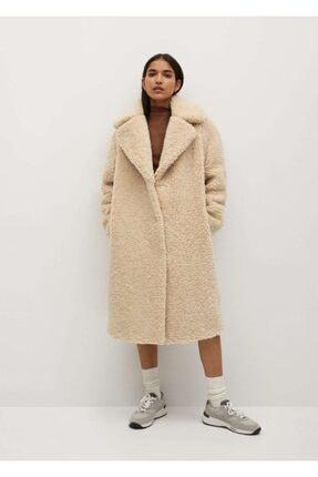 MANGO Woman Geniş Kesimli Suni Yünlü Palto