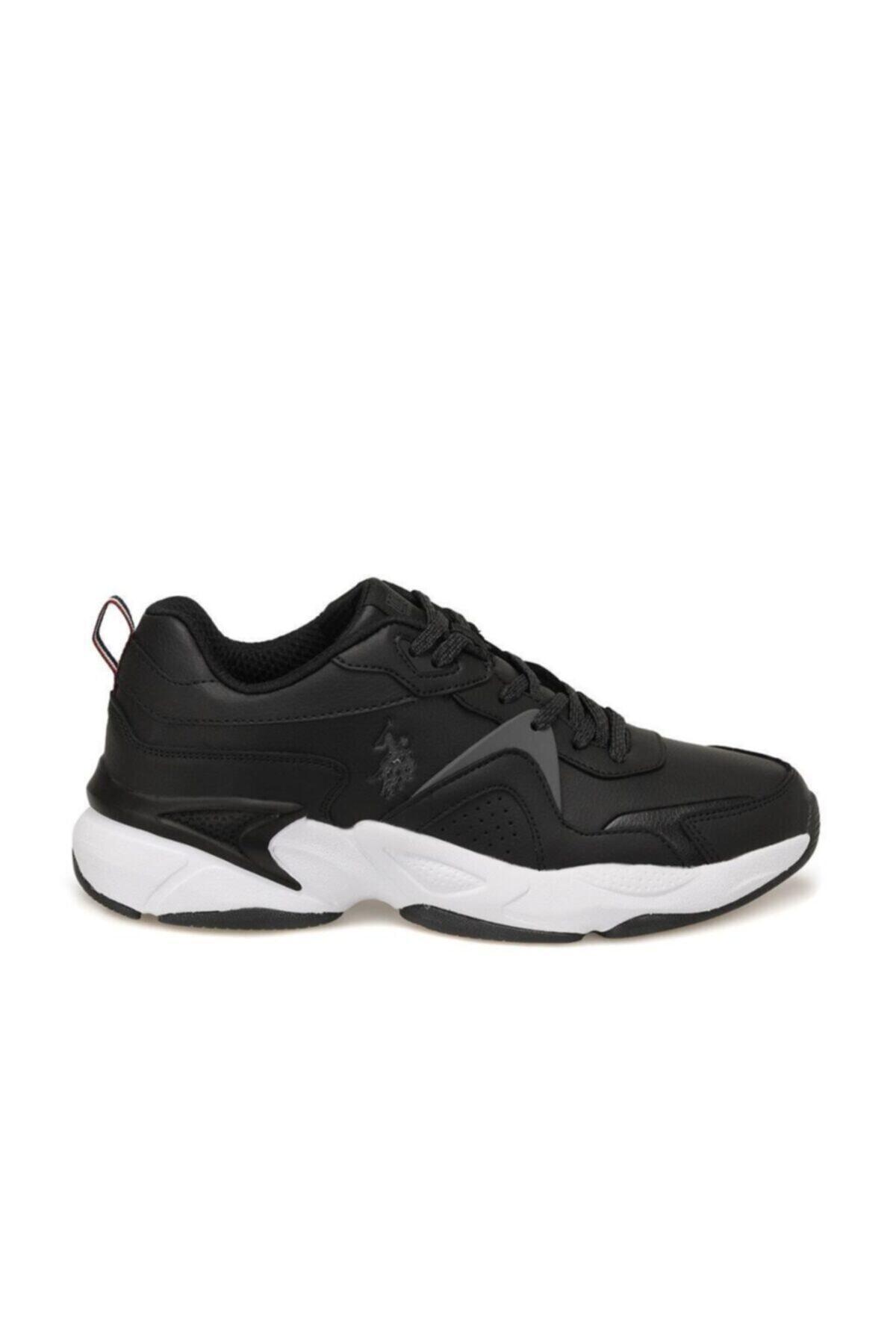 U.S. Polo Assn. Erkek Siyah Sneaker Ayakkabı 1