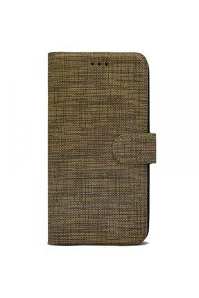 Huawei Nihcase Mate 10 Lite Kılıf Fabric Sport Stand Wallet Kahverengi