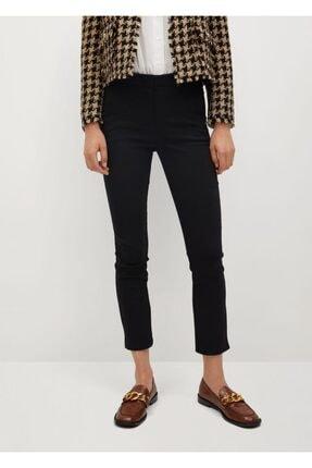 MANGO Woman Kadın Siyah Kısa Paçalı Skinny Pantolon 77030533