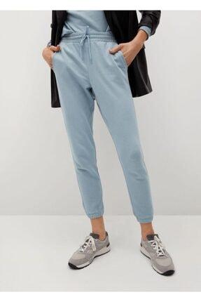MANGO Woman Jogger Tarz Pamuklu Pantolon