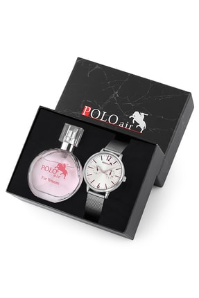 Polo Air Kadın Kol Saati Ve Parfüm Seti Hediyelik Kutusunda Kombin
