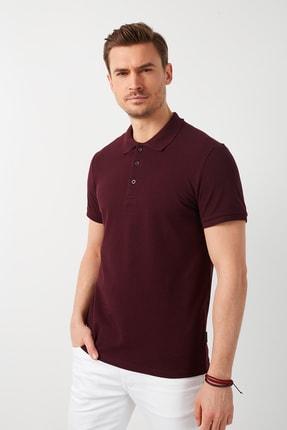 Buratti Erkek Vişne Tonu  Polo Yaka T Shirt