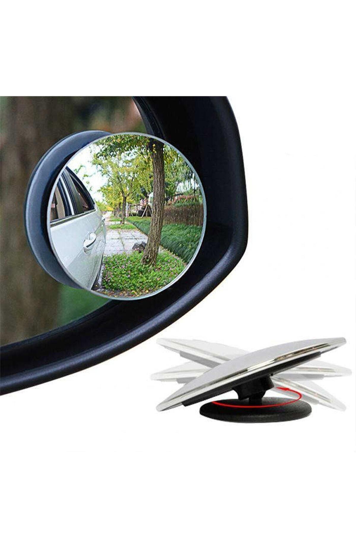 GD 24 Oto Kör Nokta Aynası Gerçek Ayna Yuvarlak 55 Mm Oynar 2 Adet Yüksek Kalite Ve Ince Tasarım Dışbükey 1