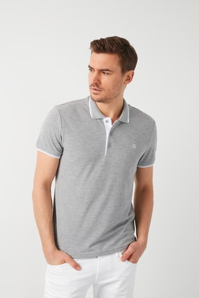Buratti Erkek Gri Pamuklu Polo T Shirt 5902118