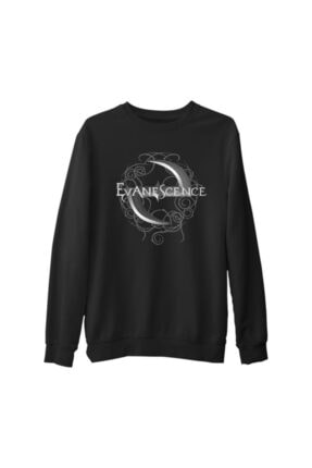 Lord T-Shirt Erkek Siyah Evanescence Logo Kalın Sweatshirt