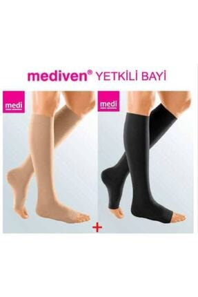 MEDIVEN Duomed Dizaltı/ccl2/açık Burun/ten Rengi/varis Çorabı