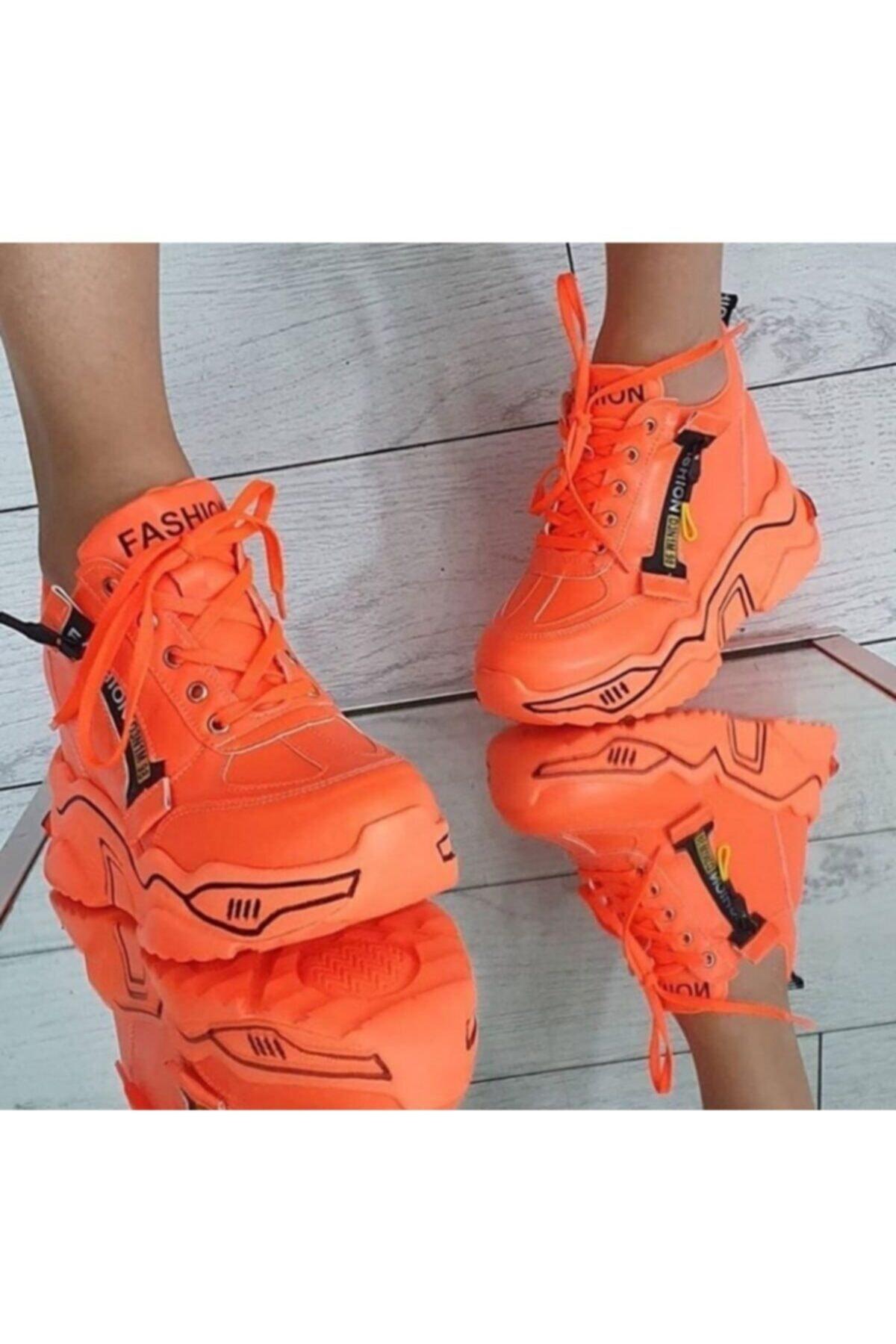shoesinn Kadın Neon Turuncu Günlük Ayakkabı 1