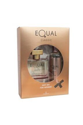 Equal Edt 75 ml + 150 ml Vücut Losyonu Kadın Parfüm Seti 8690973366191