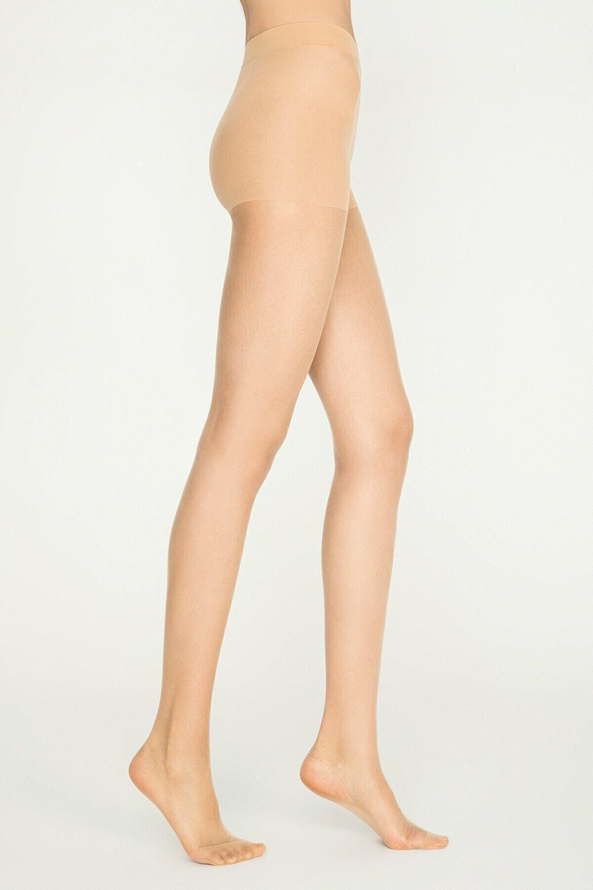 Penti Kadın Açık Ten Fit 15 Parlak Ince Külotlu Çorap 1