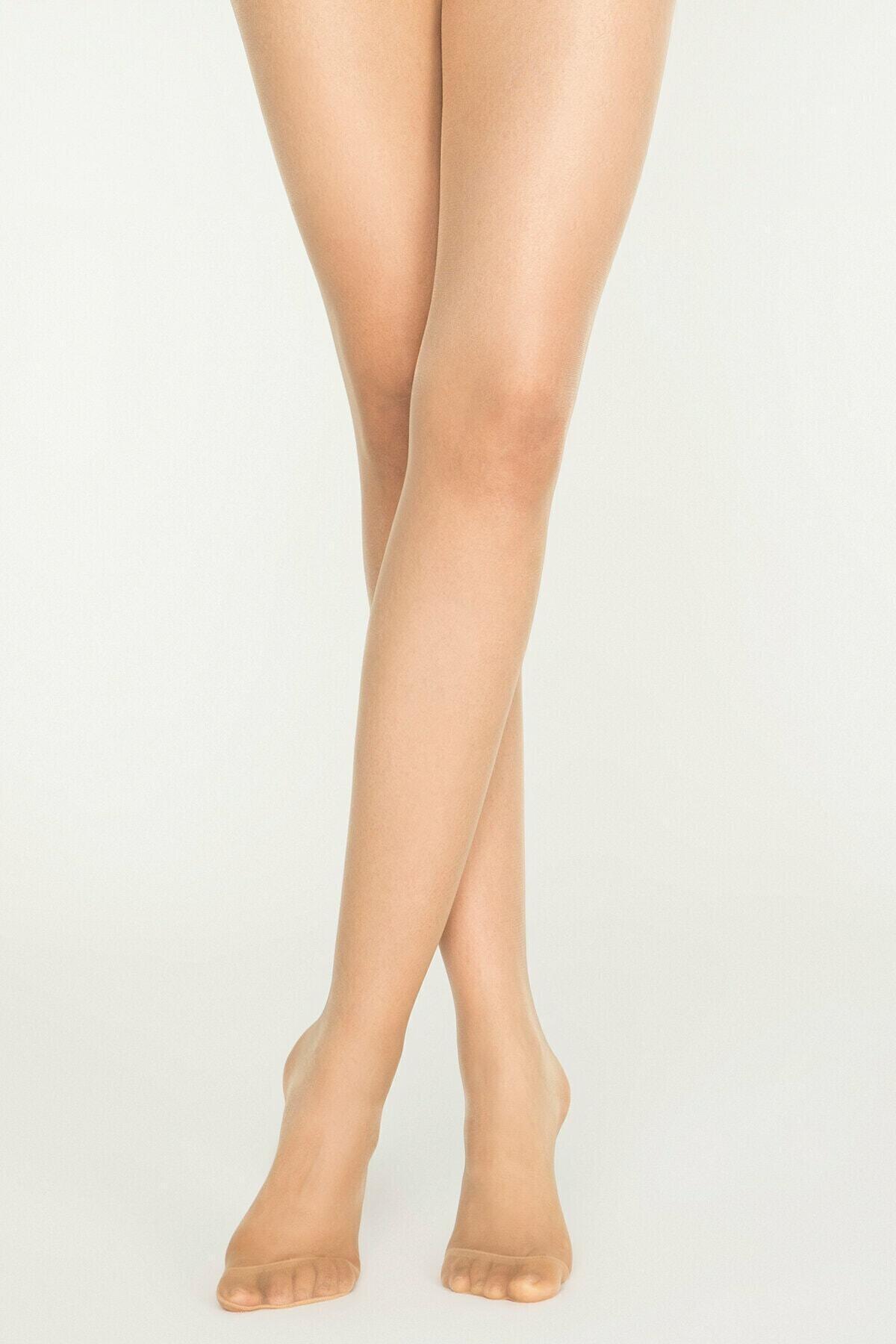 Penti Kadın Açık Ten Fit 15 Parlak Ince Külotlu Çorap 2