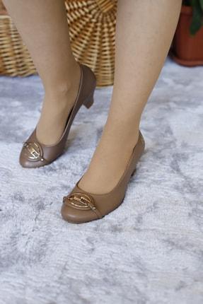 PUNTO Kadın Yumurta Topuk Kısa Gundelık Topuklu Ayakkabı