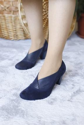 PUNTO Kadın Suet Derı Butık Mevsımlık Topuklu Ayakkabı